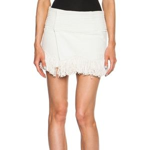 Isabel Marant Ecru Fringe Wrap Skirt EU: 38 *Small